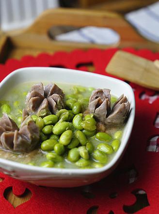 肉丸豆仁煮面筋的做法