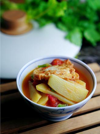 番茄焖双豆的做法