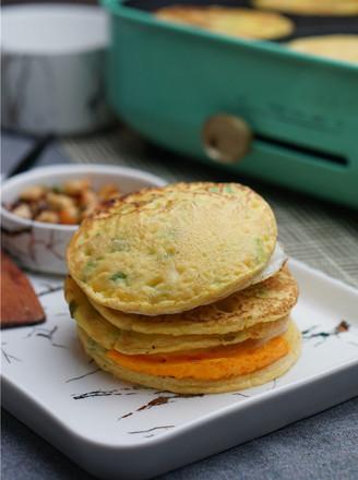 香菇鸡蛋葱花饼的做法