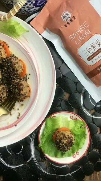 三色藜麦藕丸子的做法