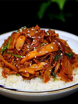 韩式杏鲍菇盖饭的做法