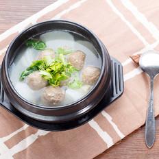 牛肉丸白萝卜汤