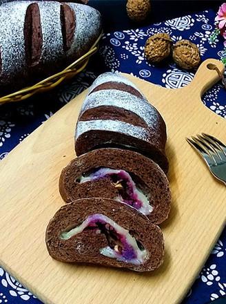 紫薯可可麻薯软欧的做法