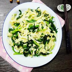韭菜炒百叶
