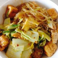 酸辣猪肉白菜油豆腐炖粉条