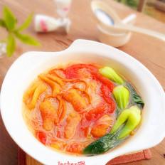 番茄浮皮粉丝汤