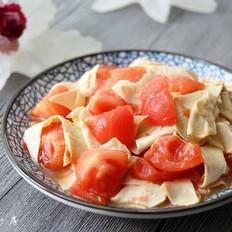西红柿豆腐皮