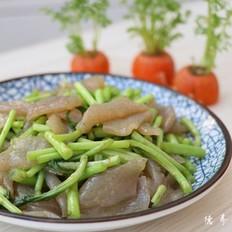 藜蒿炒魔芋豆腐