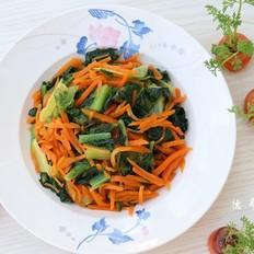 胡萝卜炒莴笋叶