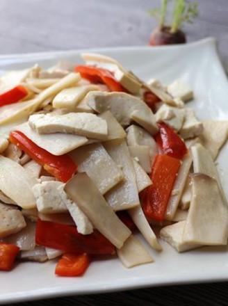 豆腐炒杏鲍菇的做法
