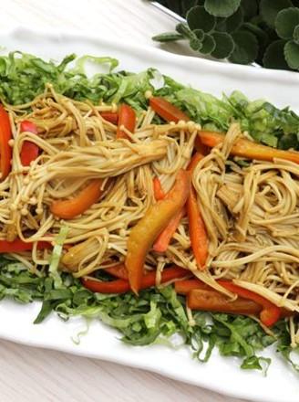 咖喱金针菇的做法