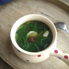 黑蒜山药菠菜汤