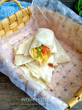 土豆丝卷饼的做法