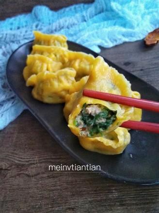 南瓜青菜饺子的做法