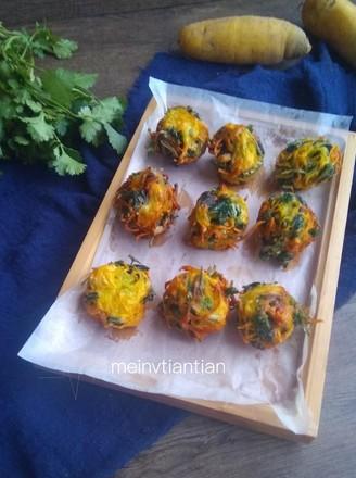 胡萝卜香菜丸子的做法