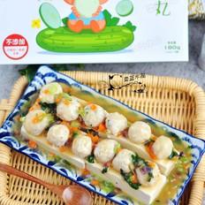 五彩丸子蒸豆腐