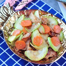 西葫芦熘肉片