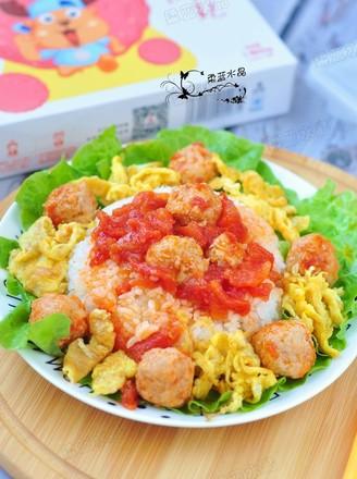 茄汁肉丸饭的做法