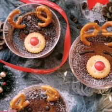 圣诞驯鹿咖啡慕斯