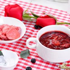 玫瑰冰糖草莓炖