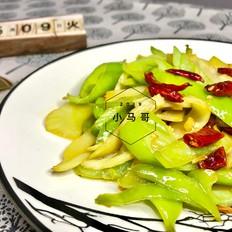 青椒炒笋片#下饭菜