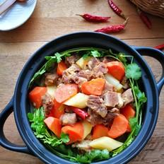 胡萝卜山药焖羊肉