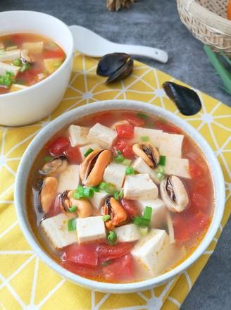 海虹豆腐羹的做法