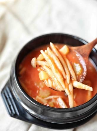 酸汤莜面鱼鱼的做法