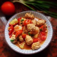 番茄烩肉丸