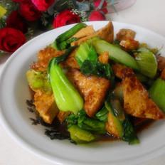 油菜炒豆腐