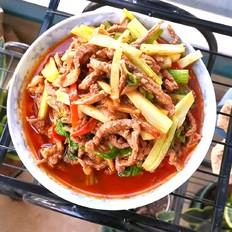 豆瓣芹菜炒牛肉