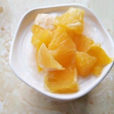 橙子酸奶杯
