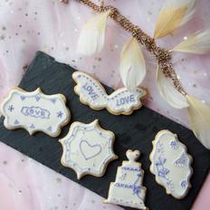婚礼糖霜饼干