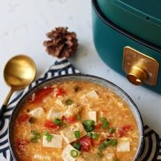 酸酸美味的番茄豆腐疙瘩汤