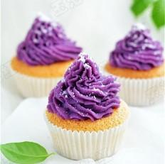椰香紫薯小蛋糕