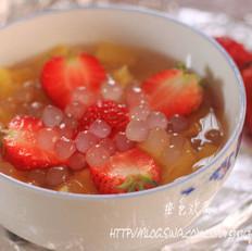 西米水果甜汤