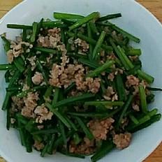 韭菜花炒肉