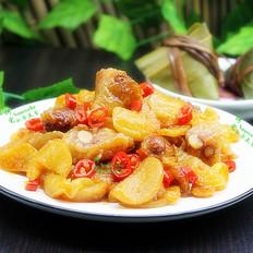 剩余粽子花样吃,泡菜炒粽子