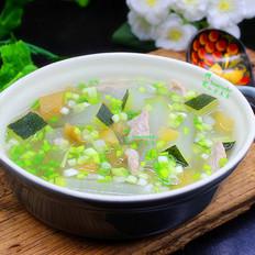 冬瓜酸芋荷肉片汤