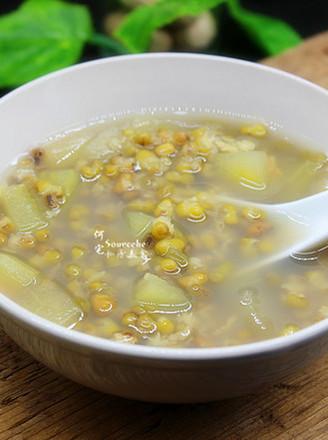 西瓜皮绿豆汤的做法