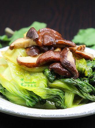 香菇炒生菜的做法
