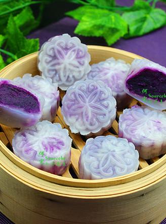 紫薯水晶饼的做法