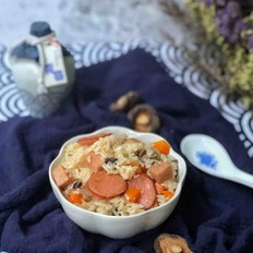 火腿香菇焖饭