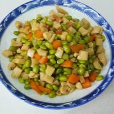 鸡胸肉炒毛豆杏鲍菇