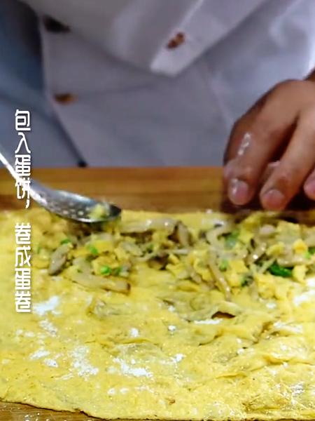 五花肉鸡蛋卷怎么炒
