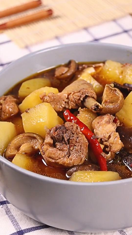 电饭煲黄焖鸡成品图