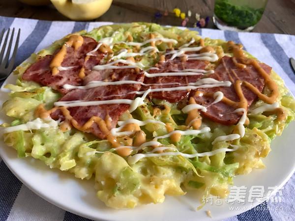 大阪烧:日式蔬菜披萨成品图