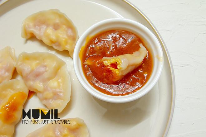 番茄鸡蛋水饺成品图