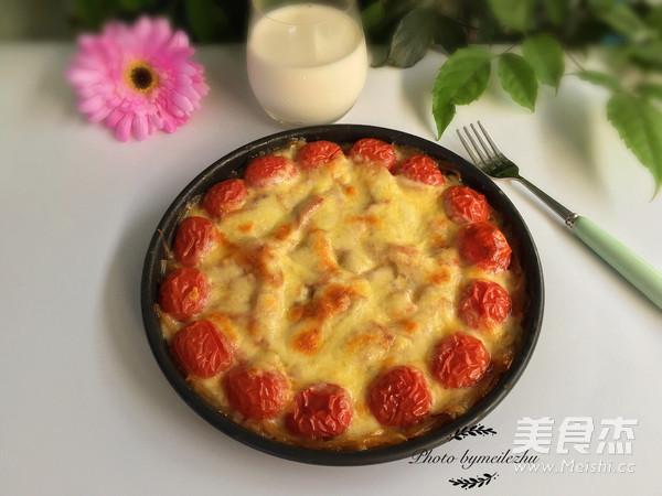 土豆丝培根披萨成品图