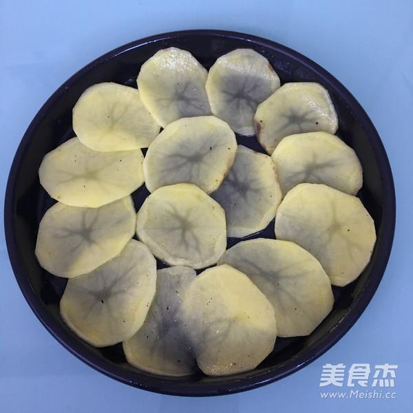 火腿芝士烤土豆片的家常做法